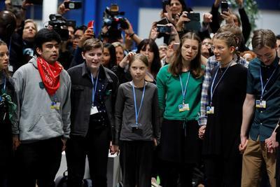 Greta Thunberg estuvo en la Cumbre del Clima de Madrid.