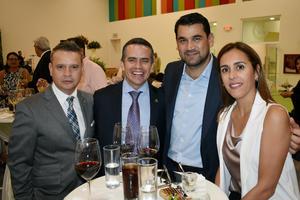 06122019 EN INAUGURACIóN DE EDIFICIO EDUCATIVO.  Toño, Jorge, Mauricio y Marcela.