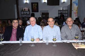 10122019 EN UNA CENA MARIDAJE.  Luis Fernando, Anuar Raúl, Roberto y José.