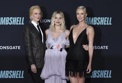 Nicole Kidman, Margot Robbie y Charlize Theron.