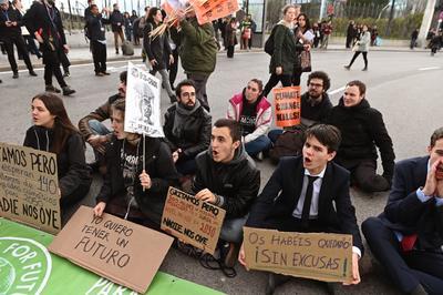 La manifestación fue autorizada por Naciones Unidas.