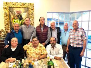 14122019 TARDE DE AMIGOS.  Jesús Javier Rodríguez, Gabriel Villalobos, Carlos Román Cepeda, Heriberto Ramos, Samuel Rodríguez, David Cazárez, José Luis Cuéllar, Ramón Betancourt y Jesús Sánchez.