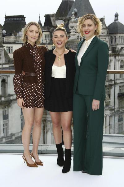 Saoirse Ronan, Florence Pugh y Greta Gerwig.