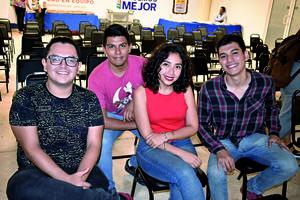 18122019 EVENTO CULTURAL.  Juan José, Diego, Janeth y Ángel.