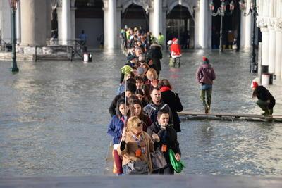 La ciudad apenas se recuperaba de la excepcional marea alta que sufrió en noviembre.