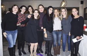 Eunice, Adriana, Estefanía, Nancy, Mayra, Laurencio, Mayte, Rocío y Vero