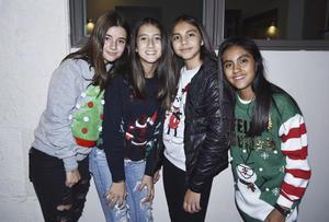 Juliana, Vale, Renata y Monse