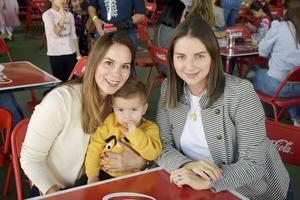 Valeria, Alonso y Fabiola