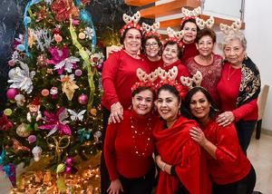 23122019 VIVEN LA NAVIDAD.  Amigas del Corazón en su fiesta decembrina.