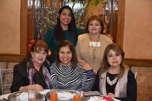 29122019 DAMAS EN DESPEDIDA.  Alejandra, Laura, Patricia, Patricia y Blanca.