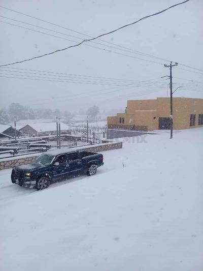 En la población de Ciénega de Nuestra Señora, municipio de Santiago Papasquiaro también hay presencia de nieve.