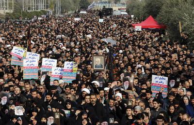 Iraníes pidieron una dura venganza contra Estados Unidos.