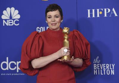 Mejor actriz en serie de TV - drama Olivia Colman, The Crown