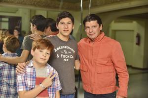 Andres, Santiago y Rodrigo