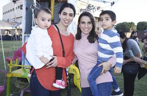 Cristina, Miriam, Franco y María Regina