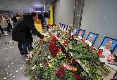 Acudieron al Boryspil International Airport en Kiev.