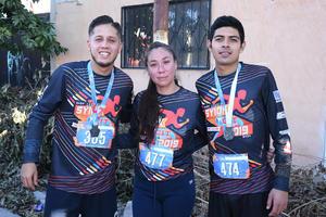 09012020 RUNNERS.  Luis Fernando, Ana Lucía y Jesús Alejandro.