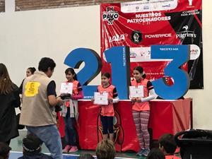 13012020 LOGROS DEPORTIVOS.  Susana y Roma Rangel Giacoman, primer y tercer lugar en la categoría de 10 a 13 años en la YMCArrera 5K del Pavo.