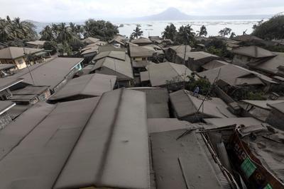 La situación se debe al volcán Taal.