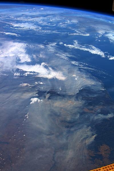 Así se ven los incendios, desde la Estación Espacial Internacional.