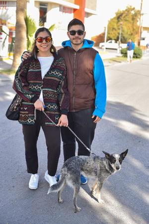 14012020 María, Javier y Kiba.
