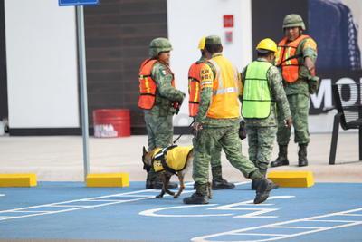 Las mediciones finales arrojaron que en cinco minutos quedó evacuado todo el lugar.