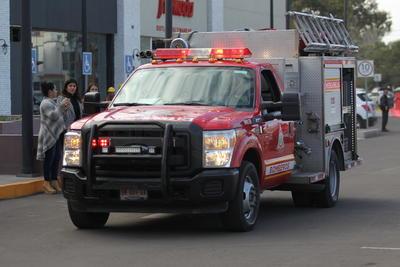 En cuestión de segundos arribó al lugar el Cuerpo de Bomberos en tres vehículos para hacerse cargo de la situación.