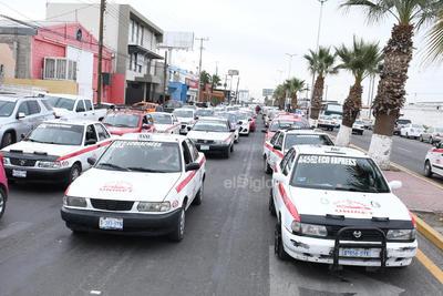 Fueron taxistas los que se manifestaron.