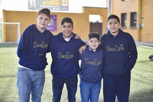 Arturo, Osmar, Diego y Emiliano