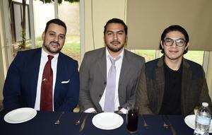 27012020 José Luis Carrillo, Jorge Alfonso Conde y Jonathan Ríos.