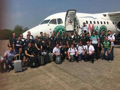 El equipo brasileño 'Chapecoense'.