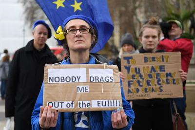 También se registraron demostraciones en contra del 'brexit'.