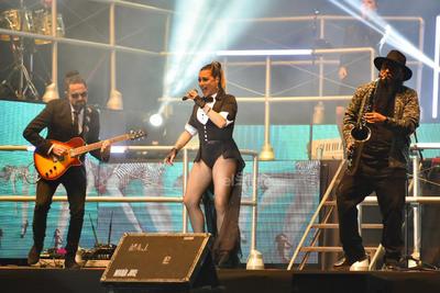 María José también interpretó temas de su más reciente producción discográfica.