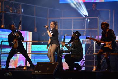 La cantante ofreció un show lleno de adrenalina.