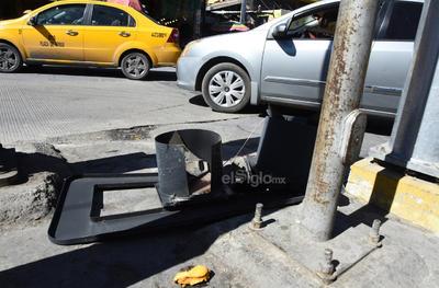 El hecho ocurrió en la esquina de la calle Múzquiz y avenida Morelos.