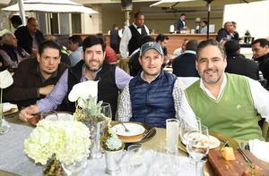 Rogelio, Tomás, Cristian y Mauro