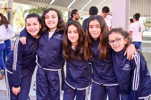 Isabela, Ana Paula, Isabela, Gabriela y Valentina.