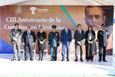 Se conmemoró el aniversario de la Constitución Mexicana de 1917.