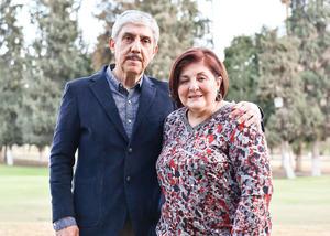 05022020 UN AñO MáS DE VIDA.  Armando de la Fuente Kury acompañado de su esposa María Teresa.