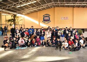 06022020 UNA MAñANA MUY ESPECIAL.  Estudiantes del Colegio San Roberto en compañía de sus mascotas.