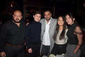 08022020 DE ANTRO.  Carlos, Guillermo Miguel, Valeria y Nicté.
