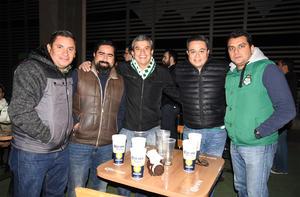 12022020 Héctor López, Gerardo Escalera, Allain Rangel, Víctor Téllez y Ernesto Gutiérrez.