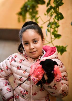 12022020 DIVERTIDA MAñANA.  Paulina y su mascota Nanan.