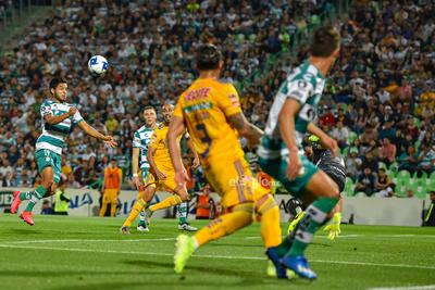 Liga MX   Segundo gol de Eduardo Aguirre   Jornada 6 Santos 2 vs Tigres 1