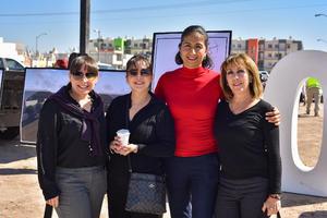 16022020 EVENTO INAUGURAL.  Priscilla, Alejandra, Sara y Maria Eugenia.