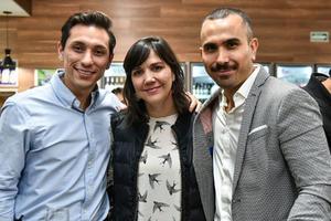 Ivan Martinez,Dolores Bortoni y Cristo Lopez.