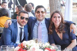Miguel Murra, Gerardo Castrejon y Monica Cueva.