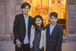 Ramiro, María José y Juan Pablo.