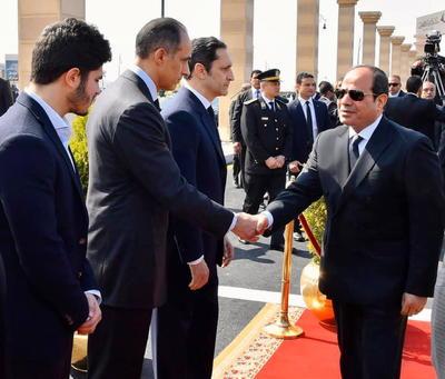 El presidente de Egipto, Abdel Fatah al-Sisi, encabezó el funeral.