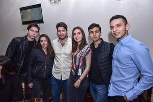 23022020 Ricardo Llamas, Katherine Zapata, Yessu Murra, Daniela Villarreal, Steven Herrera y Christian Espino.